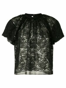 À La Garçonne pleated lace blouse - Black