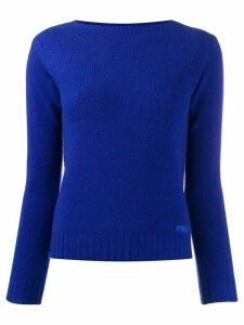 Prada fine knitted jumper - Blue
