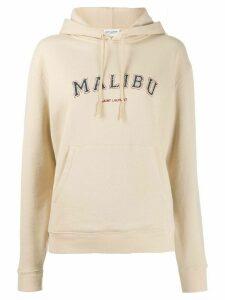 Saint Laurent Malibu hoodie - NEUTRALS