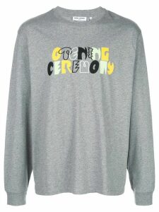 Opening Ceremony long-sleeved logo print T-shirt - Grey
