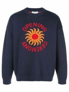 Opening Ceremony sun logo sweatshirt - Blue