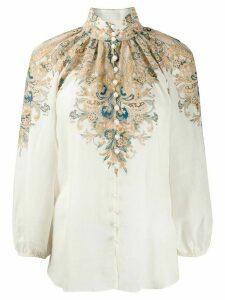 Zimmermann Freja paisley printed blouse - NEUTRALS
