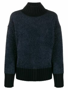 Tory Burch lurex oversized sweater - Blue