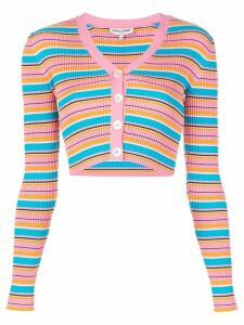 Opening Ceremony cropped striped rib cardigan - PINK