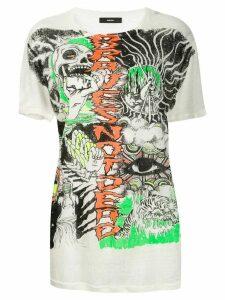 Diesel sketch print T-shirt - White