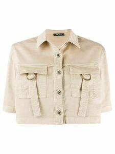 Balmain cropped shirt - NEUTRALS