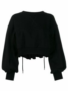Diesel balloon sleeve cropped sweatshirt - Black