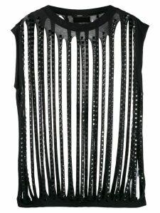 Diesel shredded top with crystal details - Black