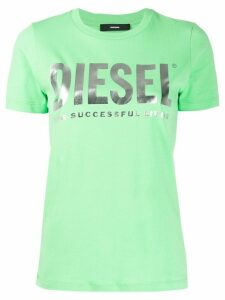 Diesel PVC lettering and slogan T-shirt - Green