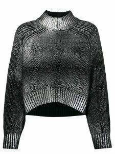 Diesel dégradé silver foil jumper - Black