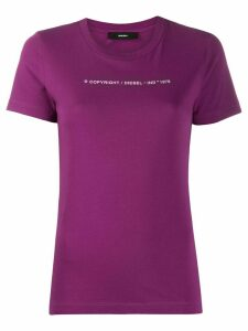 Diesel logo print crew neck T-shirt - PURPLE