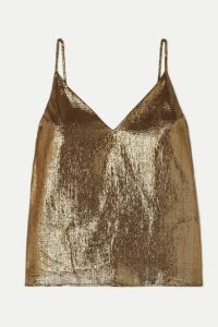 Cami NYC - The Olivia Silk-blend Lamé Camisole - Gold