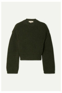 Michael Kors Collection - Ribbed Cashmere Sweater - Army green