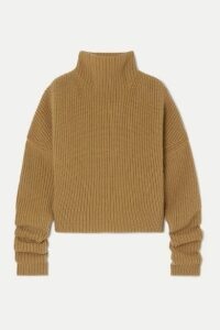 Petar Petrov - Kate Ribbed Cashmere Turtleneck Sweater - Beige