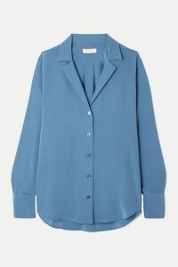 Equipment - Oriana Silk Crepe De Chine Shirt - Blue