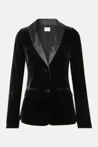 Cami NYC - The Emmie Stretch-silk Charmeuse-trimmed Velvet Blazer - Black