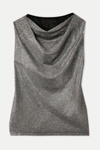 RtA - Selma Draped Metallic Jersey Top - Bronze