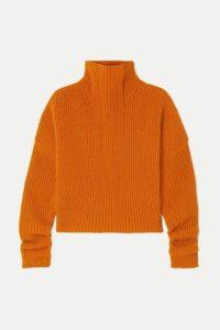 Petar Petrov - Kate Ribbed Cashmere Turtleneck Sweater - Orange