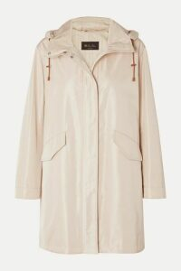 Loro Piana - Headley Hooded Matte-satin Raincoat - Beige