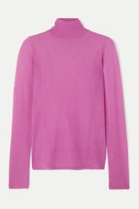 Isabel Marant - Azale Cotton-blend Turtleneck Sweater - Fuchsia
