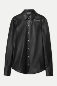 alexanderwang.t - Faux Leather Shirt - Black