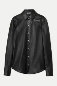 alexanderwang.t - Faux Leather Shirt - Black