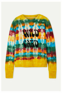 The Elder Statesman - Wild Card Tie-dyed Cashmere Sweater - Yellow