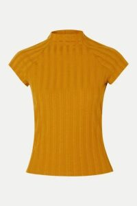 Reformation - Giselle Ribbed Stretch-tencel Top - Mustard