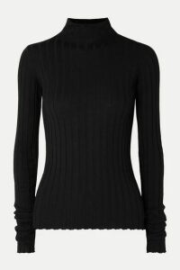 Petar Petrov - Karen Ribbed Merino Wool Turtleneck Sweater - Black