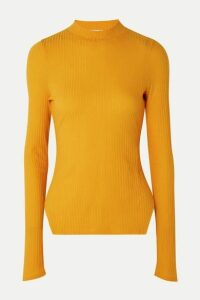 REJINA PYO - Candice Ribbed Stretch-tencel Jersey Top - Marigold