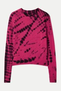The Elder Statesman - Tie-dyed Cashmere Sweater - Fuchsia