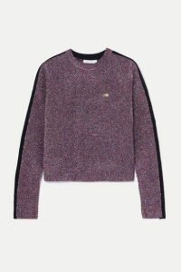 Bella Freud - Teeny Bopper Metallic Knitted Sweater - Purple