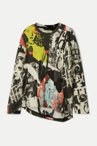Marques' Almeida - Printed Devoré Cotton-blend Jersey Sweatshirt - Black