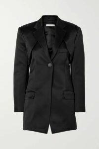 Peter Do - Convertible Cutout Silk-satin Blazer - Black