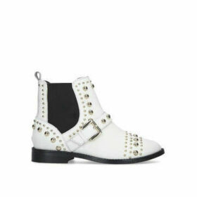 Kurt Geiger London Mini Stinger - White Studded Ankle Boot Ages 8-13