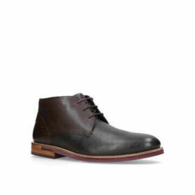 Ted Baker Daiino Mix Mat Chukka - Brown Lace Up Boots