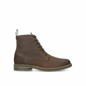 Barbour Seaham Lace Up Zip Boot - Tan Lace Up Ankle Boots