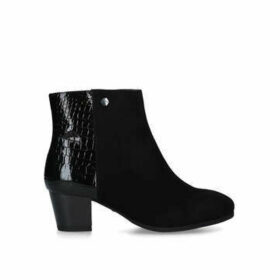 Carvela Comfort Rani - Black Low Heel Chelsea Boots
