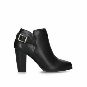 Carvela Shoot - Black Block Heel Ankle Boots