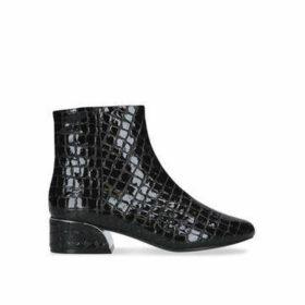 Aldo Trisignata - Black Croc Print Ankle Boots
