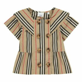 Burberry Stripe Poplin Sailor Top