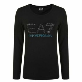 EA7 Logo Long Sleeve T Shirt
