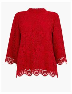 M&S Collection Lace 3/4 Sleeve Blouse
