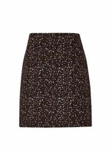 Womens Multi Colour Jacquard Mini Skirt - Black, Black