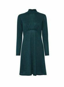 Womens Green Empire Cut And Sew Dress, Green
