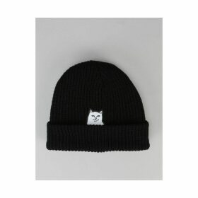 RIPNDIP Lord Nermal Ribbed Beanie - Black (One Size Only)