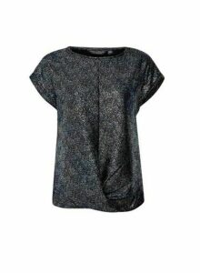 Womens Multi Colour Twist Hem T-Shirt, Multi Colour