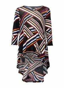 Womens *Izabel London Black Abstract Print Top, Black