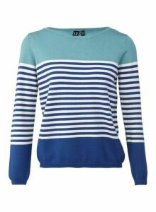Womens *Izabel London Blue Knitted Jumper, Blue