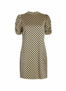 Womens Camel Spot Print Tunic Top- Brown, Brown